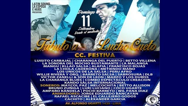 Afiche promocional del evento solidario en beneficio de Lucho Cueto. (Fuente: Facebook)