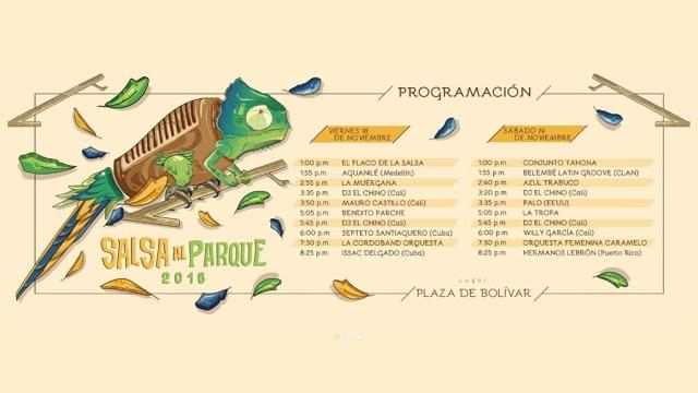 Programa anunciado para el encuentro de melómanos y coleccionistas. (Imagen: Facebook/SalsaAlParque)
