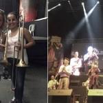 La sorpresa femenina en los trombones de la orquesta Narváez