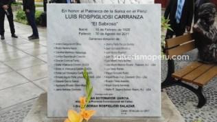 Placa recordatoria de quienes hicieron posible esta obra para El Sabroso. (Foto: Daniel Alvarez / Salserísimo Perú)