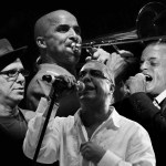 Herman Olivera, Frankie Vázquez, Pupy Cantor y Jimmy Bosch en Lima