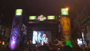 Karen Dejo estuvo como animadora durante la noche. (Foto: Municipalidad Provincial del Callao)