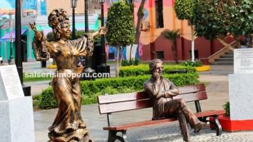 La imagen de Celia se encuentra al lado del monumento de Lavoe. (Foto: Salserísimo Perú)