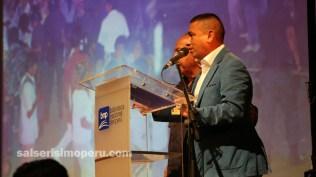Martín Gómez de Salserísimo Perú estuvo como moderador en el evento. (Foto: Fernando Olivera / Salserísimo Perú)