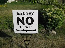 No to development