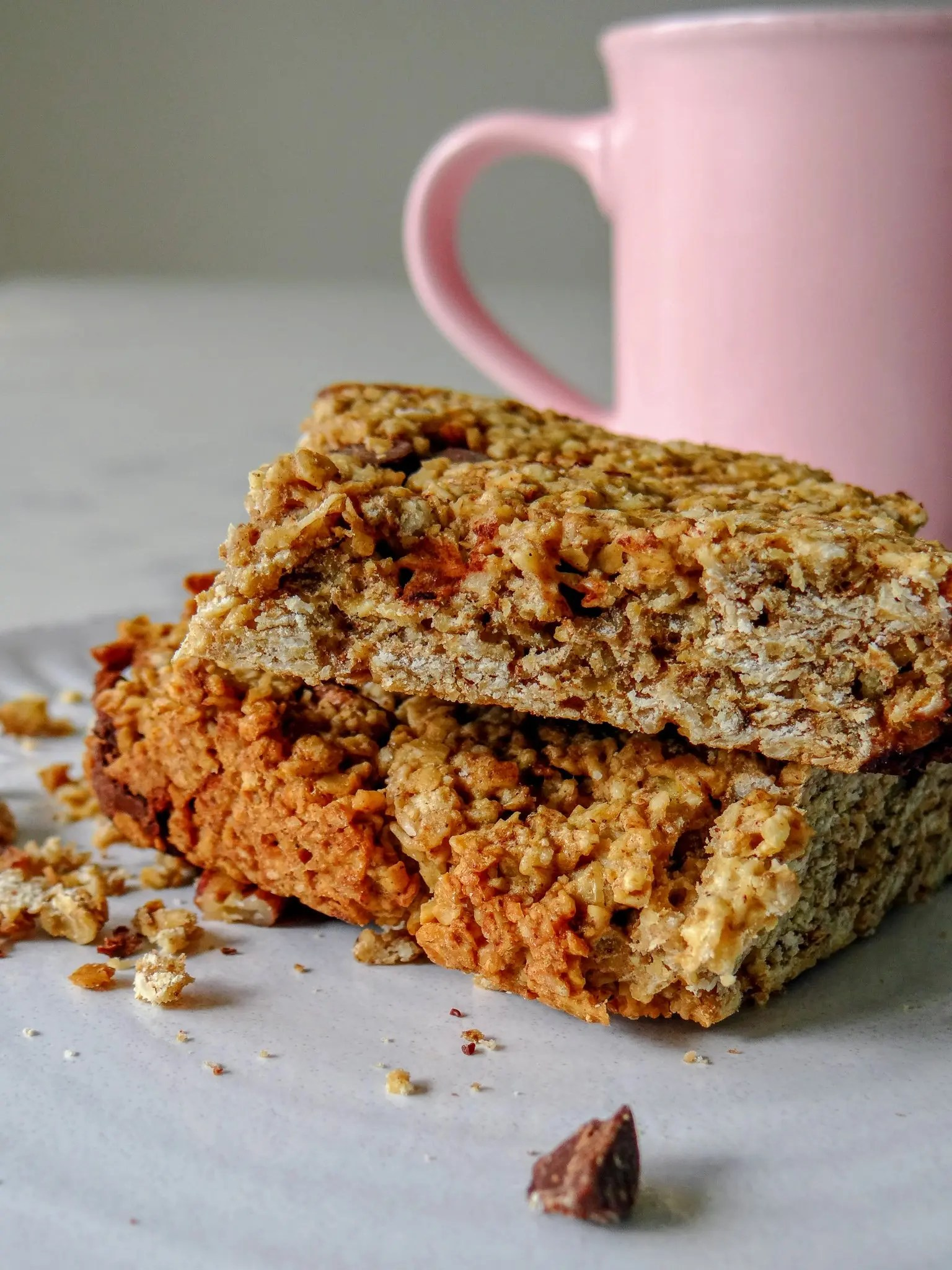 Image of Cowboy Oatmeal bars and coffee
