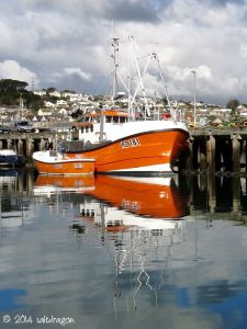 Fishing boat Mayflower in Newlyn harbour in Cornwall