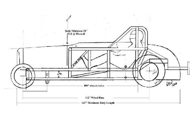 1932 ford roadster frame dimensions