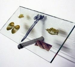 10 cm. Curios (2012) Print Glass.SALT glass studios