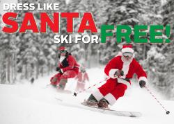 santa skis free at brighton