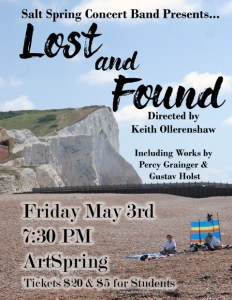 SS Concert Band: Lost and Found @ Artspring
