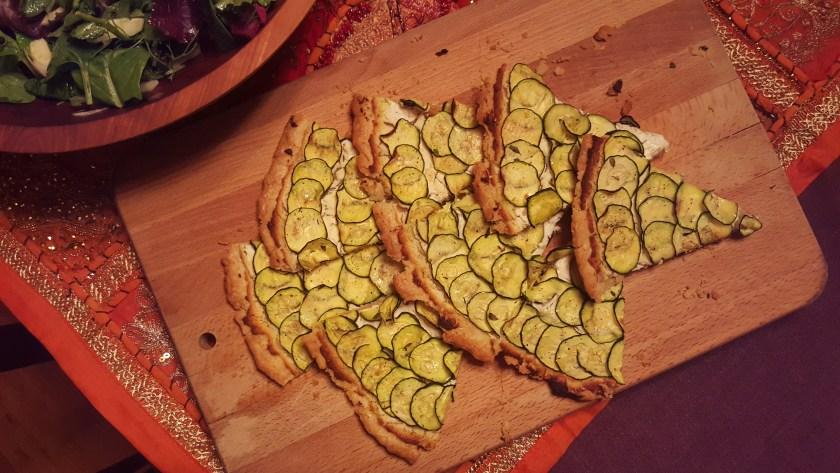 Zucchini and goat cheese tart image
