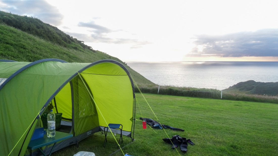 Camping weekend with a seaview