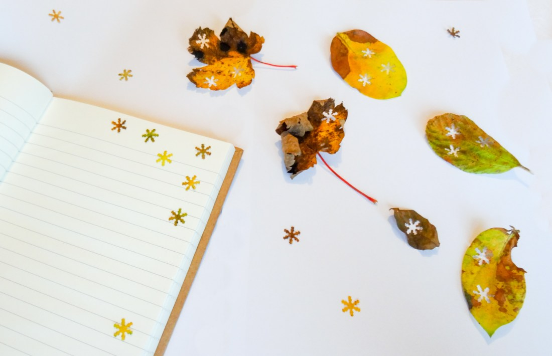 autumn leaf confetti craft
