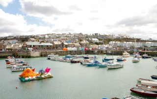 easter in cornwall porthleven harbour