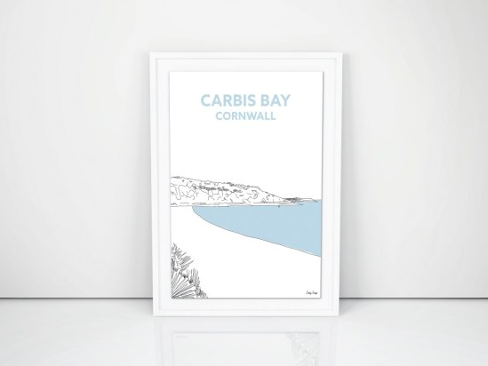 cornish prints travel illustration cornwall