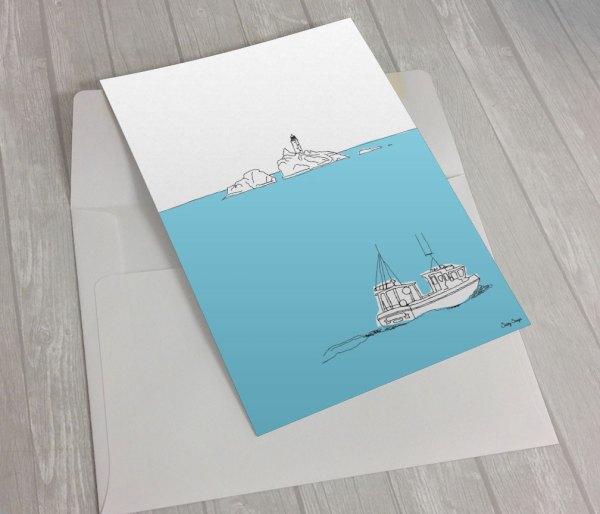 Gwithian-Fishing-Boat Greeting Card
