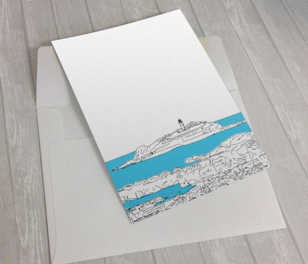 Godrevy-Lighthouse-Greeting Card