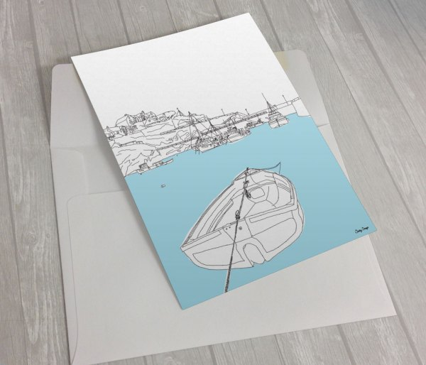 Newquay-Harbour-greeting card