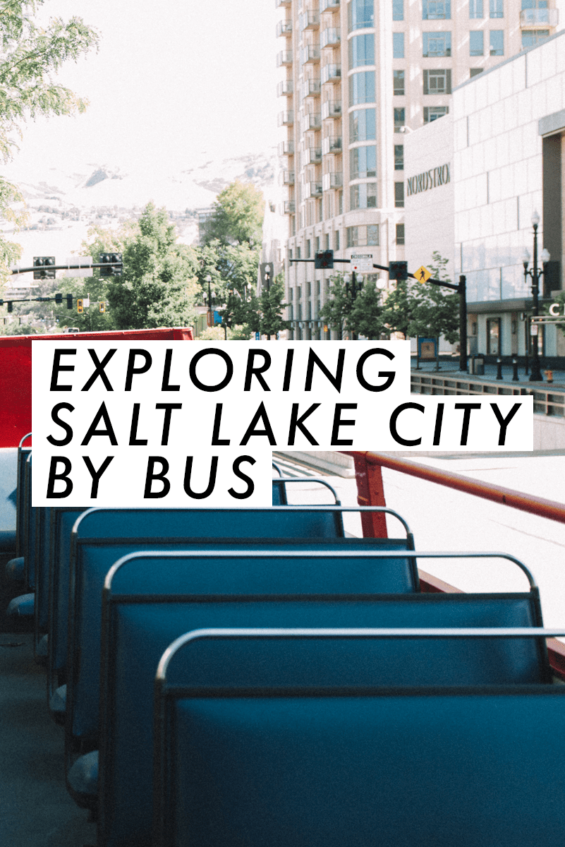 Exploring Salt Lake City by bus! This looks so fun! | Travel Utah | Explore SLC | saltyspaces.com