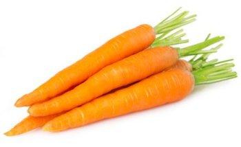 La zanahoria: zanahorias frescas