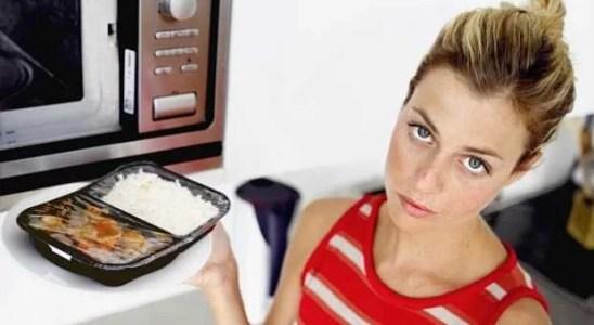 comida recalentada microondas