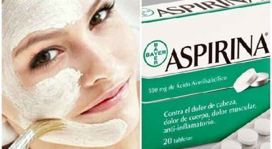 mascarilla de aspirina para rejuvenecer el rostro