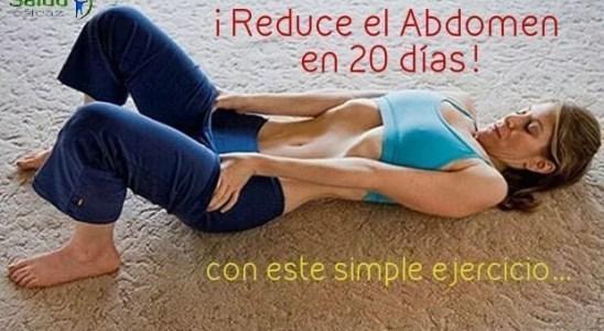 como reducir el abdomen y cintura con un simple ejercicio