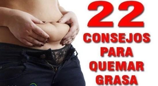 22 consejos para quemar grasa y tener un vientre plano