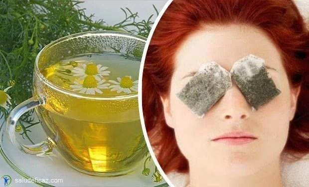 para que sirve el te de manzanilla en los ojos