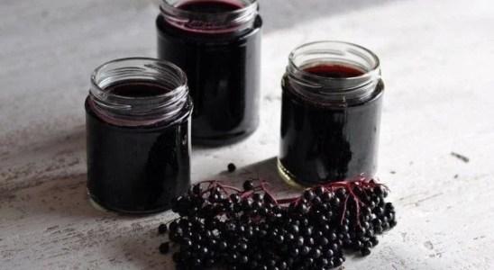 Remedio casero con fruta de saúco para gripes y resfriados