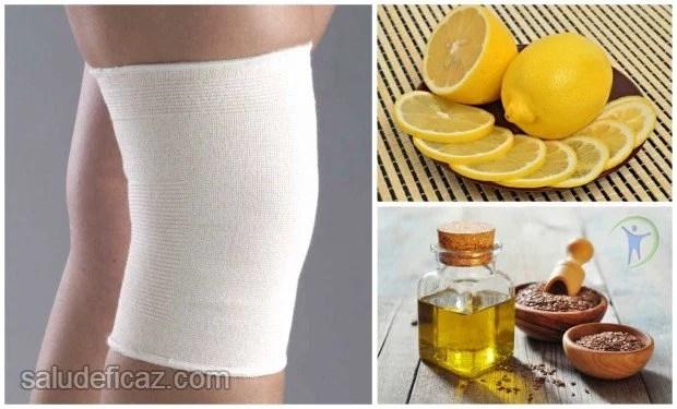 Aceite de sesamo y limon para el dolor de rodillas