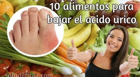 10 alimentos para bajar el acido urico