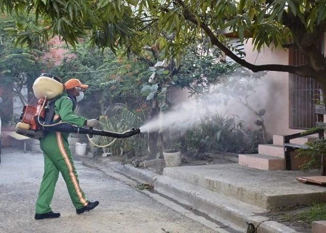 Fumigando contra el dengue