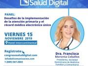 Presidenta Sodomefyc participará en panel Primer Congreso Salud Digital
