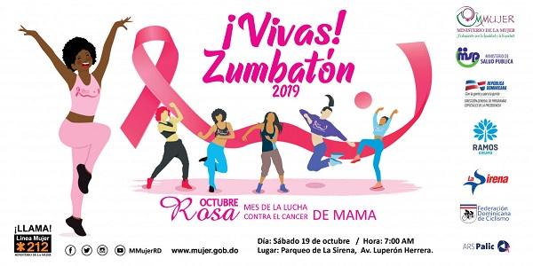 Ministerio de la Mujer invita a zumbatón contra el cáncer de mama