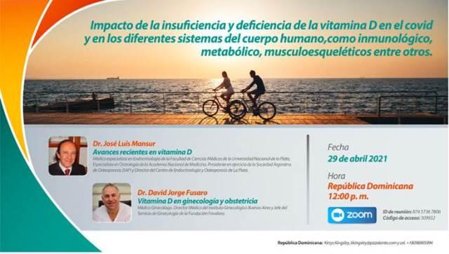 Especialistas debatirán sobre la vitamina D y su impacto en medio de la pandemia