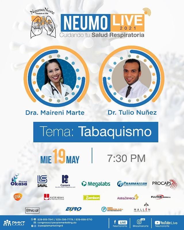 """Neumonorte continúa con los Neumolive; este miércoles 19 tratarán el tema """"El Tabaquismo"""""""
