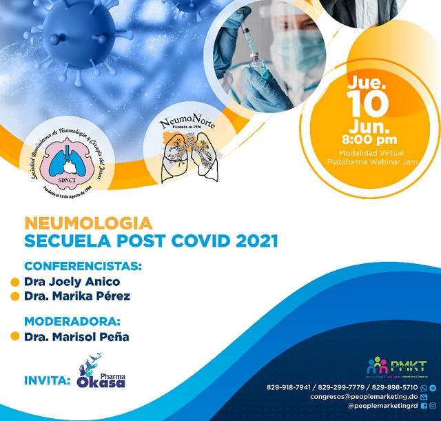 Neumólogos analizarán secuelas post Covid-19 en webinar