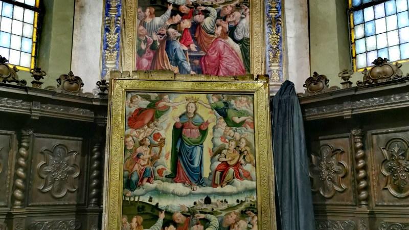 La pala d'altare cinquecentesca dell'Assunzione è andata al restauro