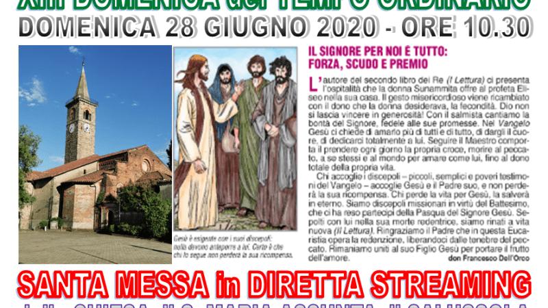 Oggi c'è la riapertura della chiesa di Salussola, la Messa è in diretta dal sagrato