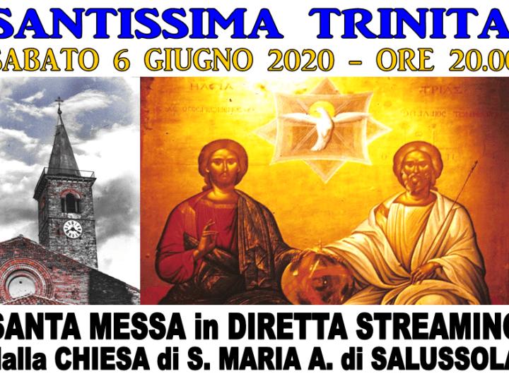 Stasera alle ore 20 Messa della Santissima Trinità in diretta internet da Salussola