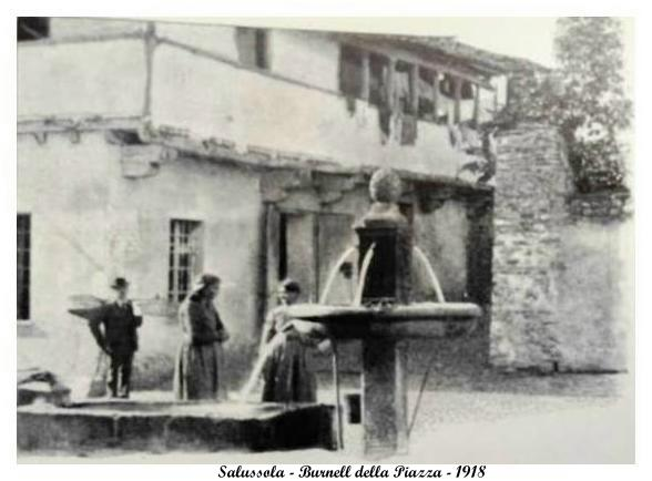 Vecchia Salussola: Ecco com'era la fontana di Piazza Cesare Nani nel 1918