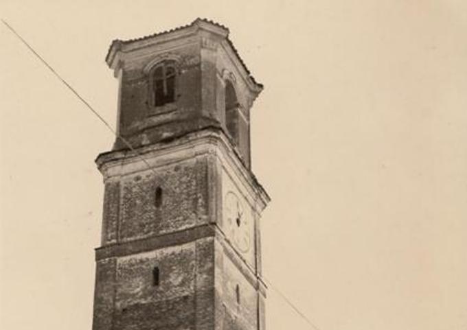 Vecchia Salussola: La vecchia chiesa di Vigellio vista a metà degli anni del 1960