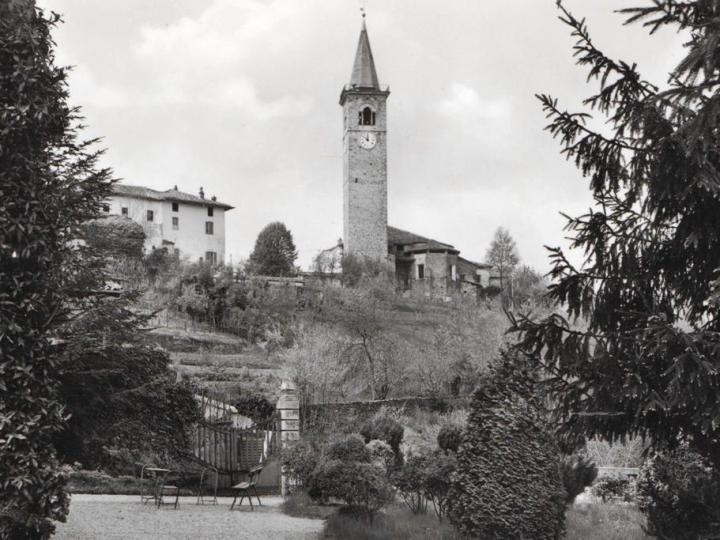 Vecchia Salussola: Il campanile visto dalla Palazzina dei Torello Viera