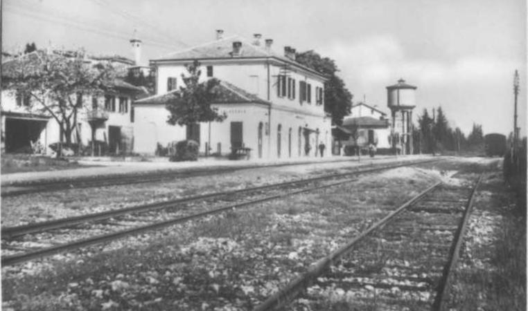 Vecchia Salussola: La stazione ferroviaria negli anni del 1960
