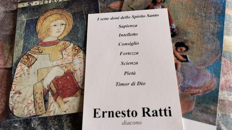 E' morto Ernesto Ratti diacono dell'Unità Pastorale beato Pietro levita