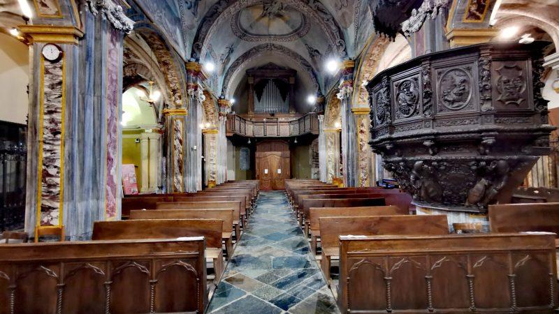 L'interno della pieve di santa Maria Assunta. FOTO