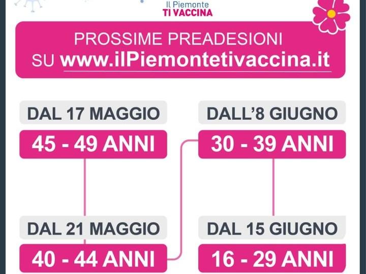 Ecco le date delle prossime pre adesioni al vaccino dai 16 ai 49 anni