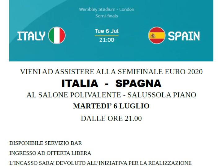 Italia vs Spagna su grande schermo domani sera al Polivalente